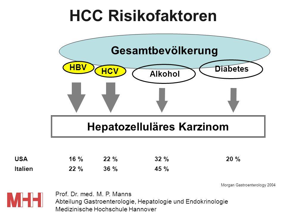 HCC Risikofaktoren Gesamtbevölkerung Hepatozelluläres Karzinom HBV