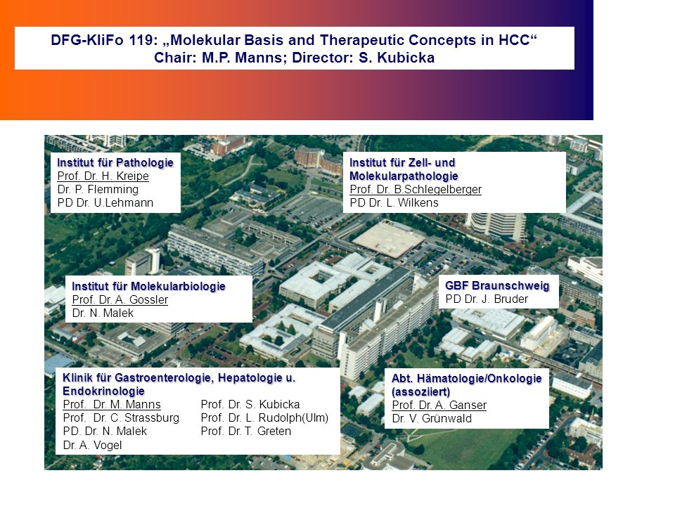 "DFG-KliFo 119: ""Molekular Basis and Therapeutic Concepts in HCC"