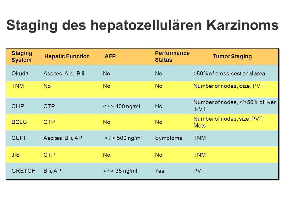 Staging des hepatozellulären Karzinoms
