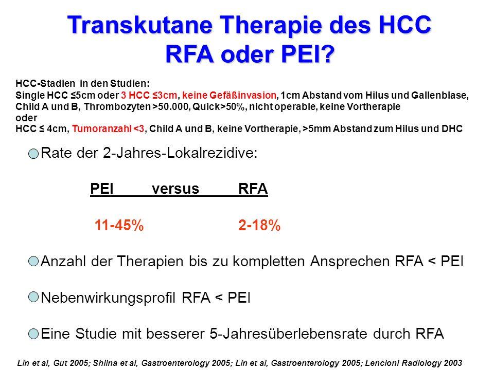 Transkutane Therapie des HCC RFA oder PEI