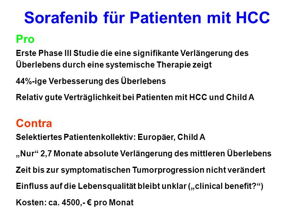 Sorafenib für Patienten mit HCC