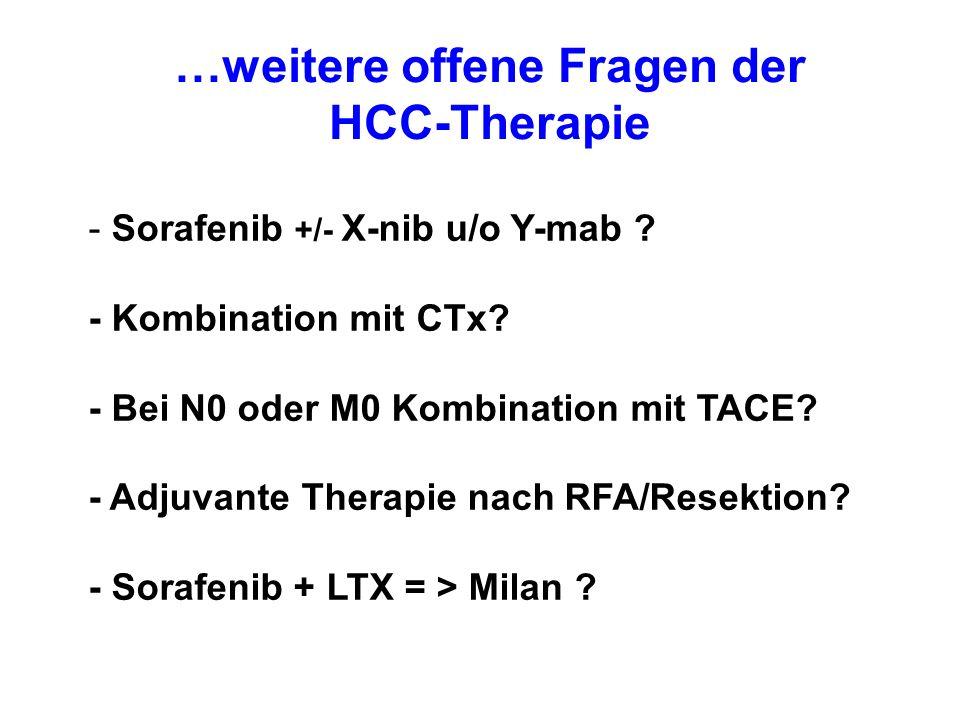 …weitere offene Fragen der HCC-Therapie