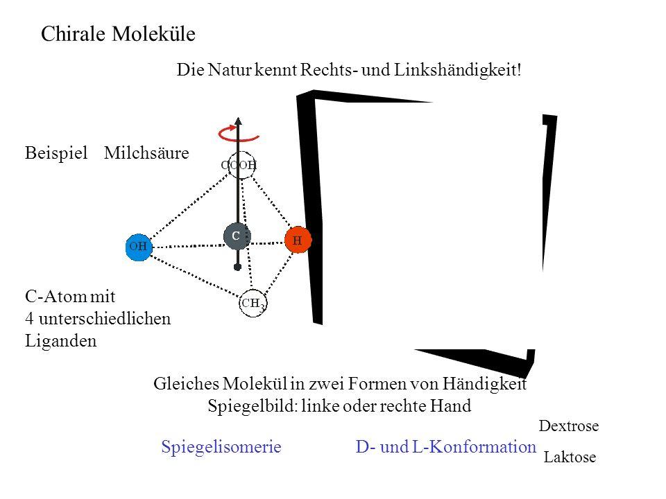 Chirale Moleküle Die Natur kennt Rechts- und Linkshändigkeit!