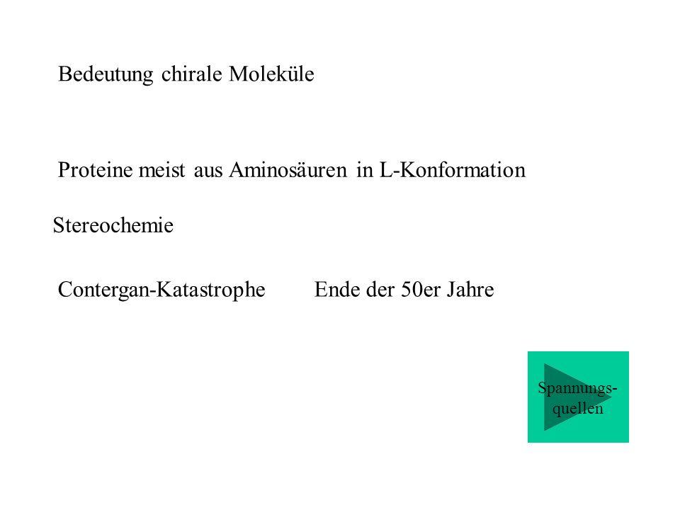 Bedeutung chirale Moleküle