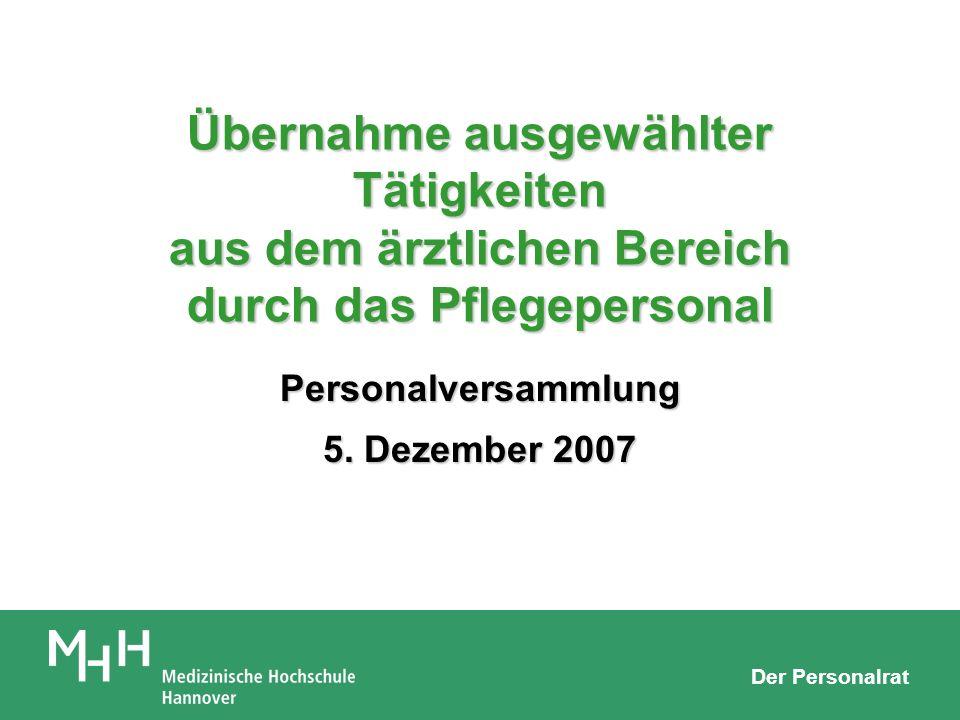 Personalversammlung 5. Dezember 2007