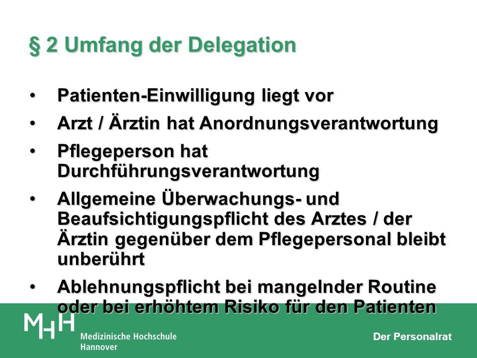 § 2 Umfang der Delegation