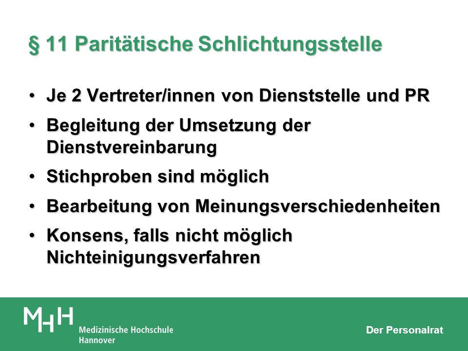 § 11 Paritätische Schlichtungsstelle