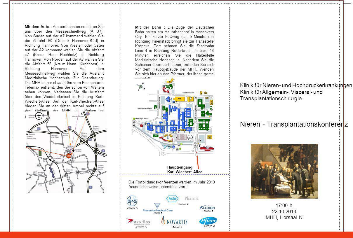 Nieren - Transplantationskonferenz