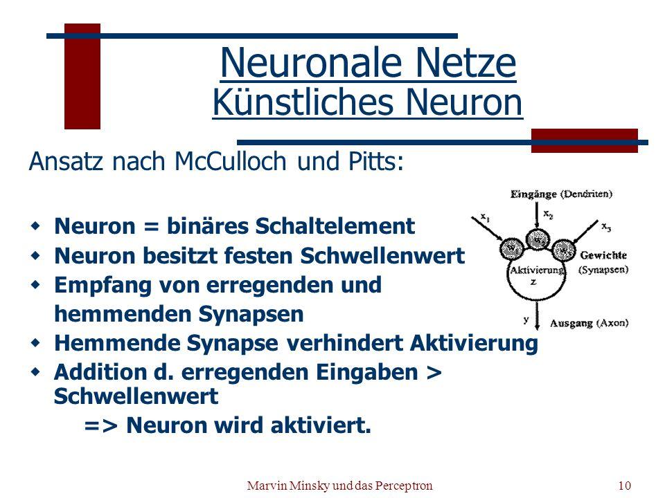 Neuronale Netze Künstliches Neuron