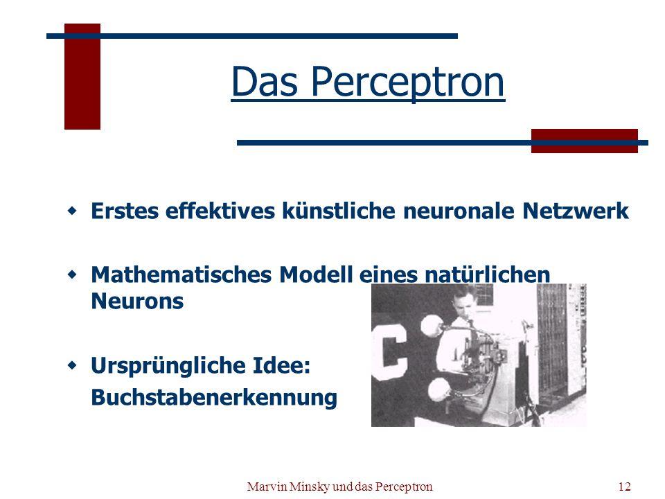 Marvin Minsky und das Perceptron