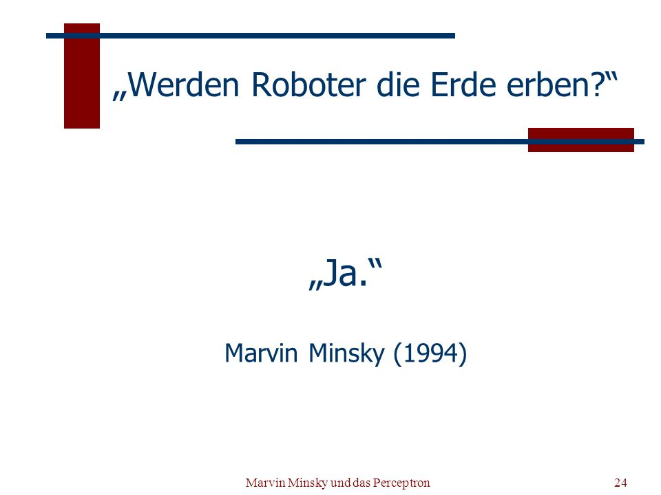 """""""Werden Roboter die Erde erben"""