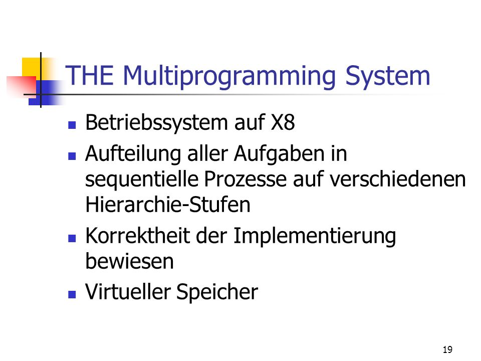 THE Multiprogramming System