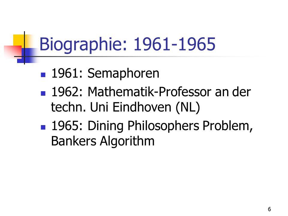 Biographie: 1961-1965 1961: Semaphoren