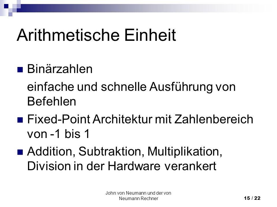 Arithmetische Einheit