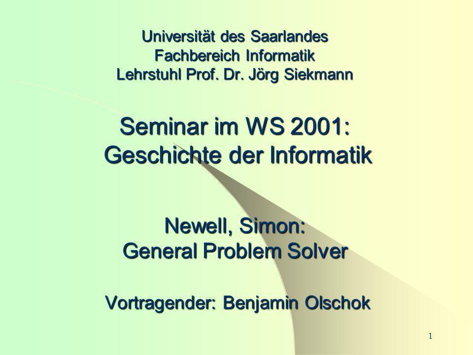 Universität des Saarlandes Fachbereich Informatik Lehrstuhl Prof. Dr