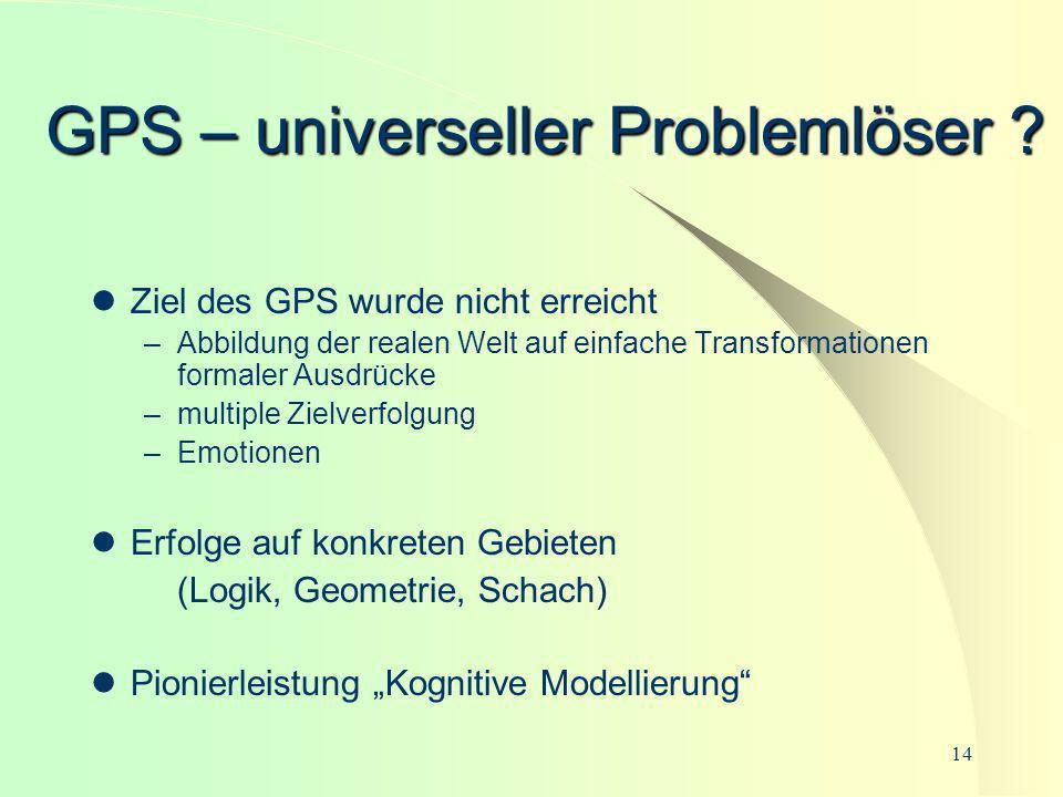 GPS – universeller Problemlöser