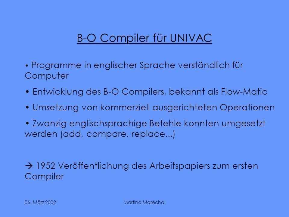 B-O Compiler für UNIVAC