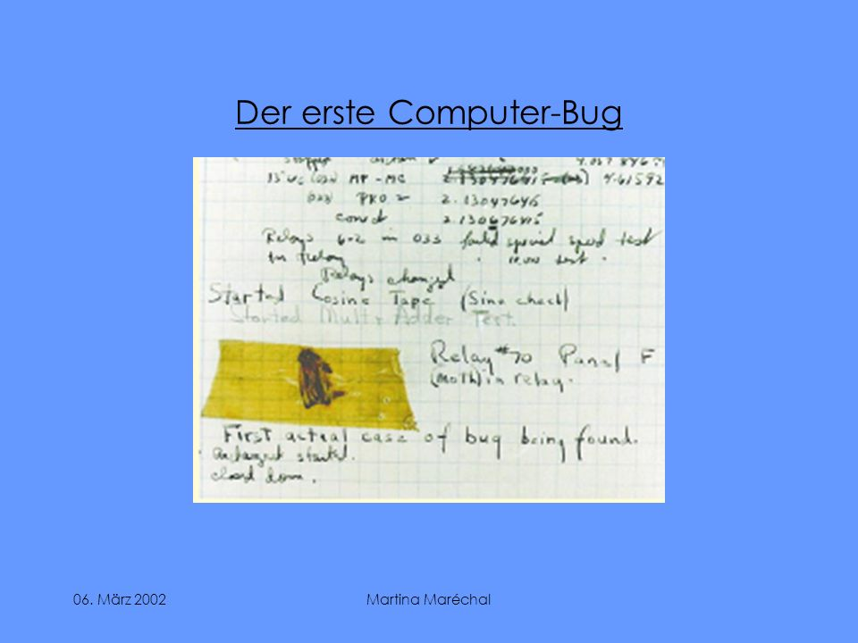 Der erste Computer-Bug