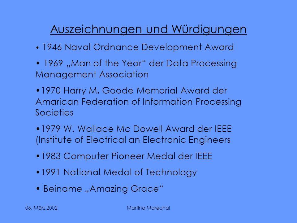 Auszeichnungen und Würdigungen