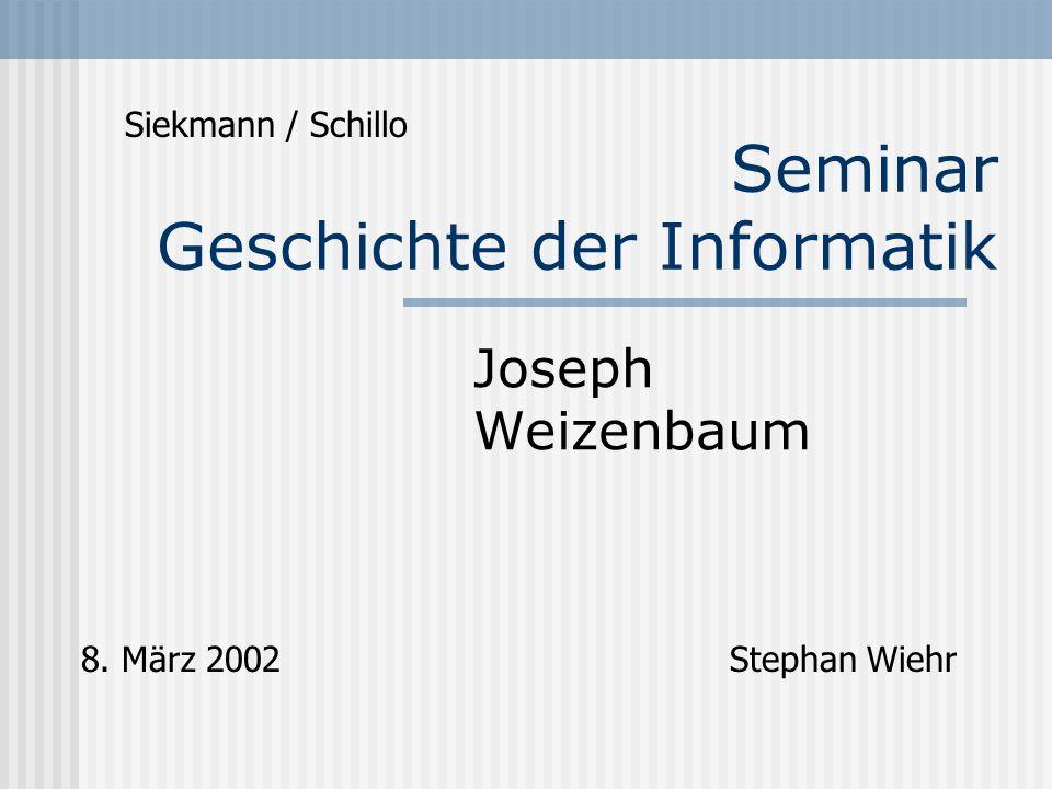 Seminar Geschichte der Informatik
