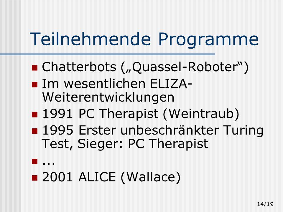 Teilnehmende Programme