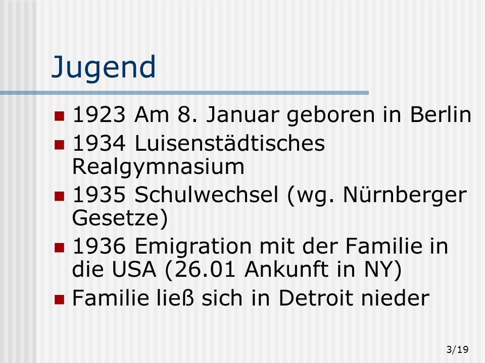 Jugend 1923 Am 8. Januar geboren in Berlin