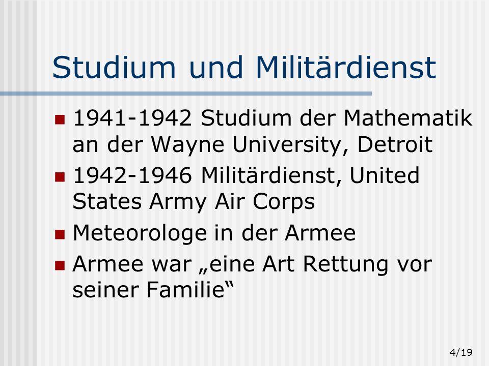 Studium und Militärdienst