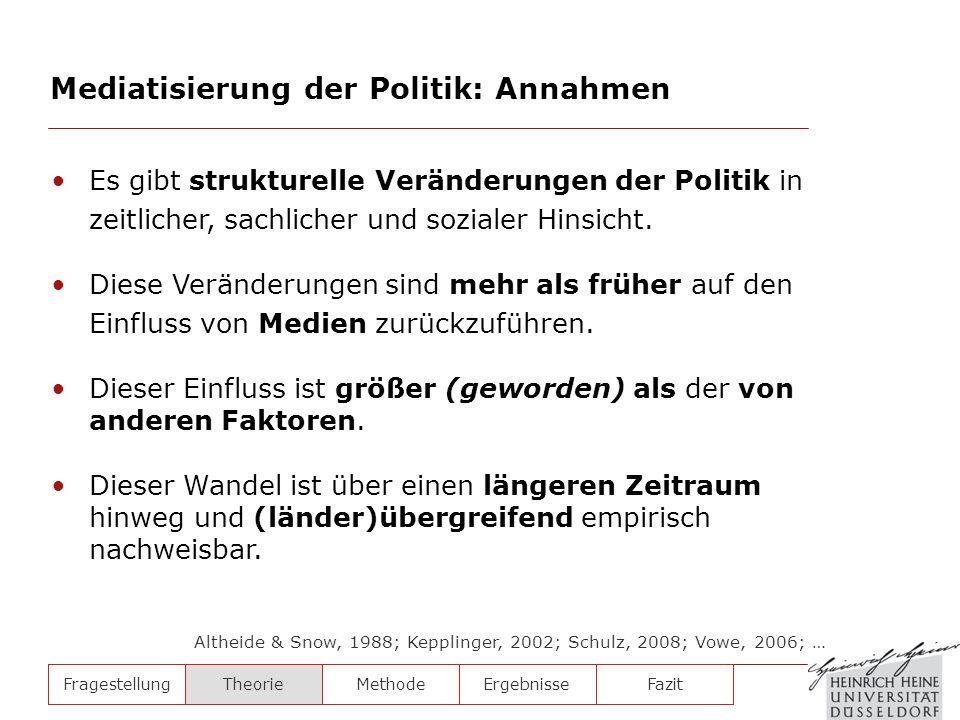 Mediatisierung der Politik: Annahmen
