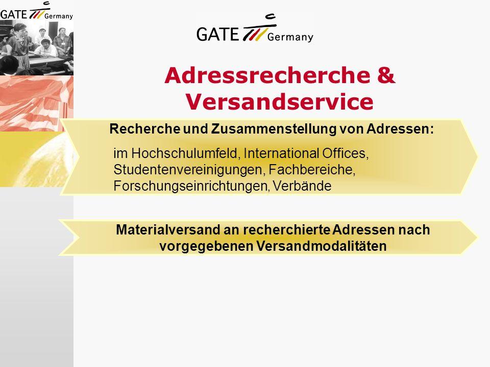 Adressrecherche & Versandservice