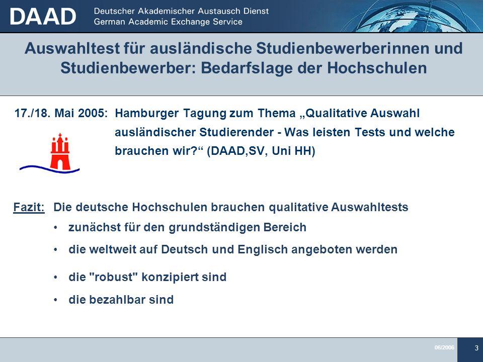 Auswahltest für ausländische Studienbewerberinnen und Studienbewerber: Bedarfslage der Hochschulen