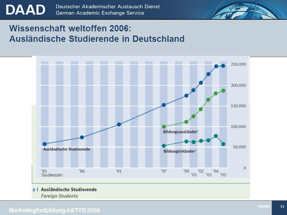 Wissenschaft weltoffen 2006: Ausländische Studierende in Deutschland