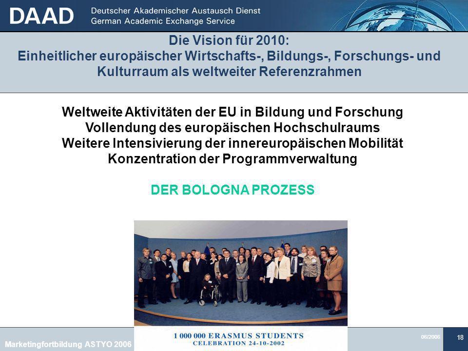Weltweite Aktivitäten der EU in Bildung und Forschung