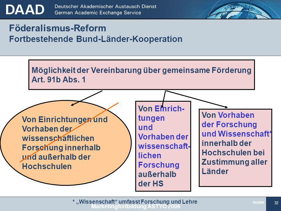 Föderalismus-Reform Fortbestehende Bund-Länder-Kooperation
