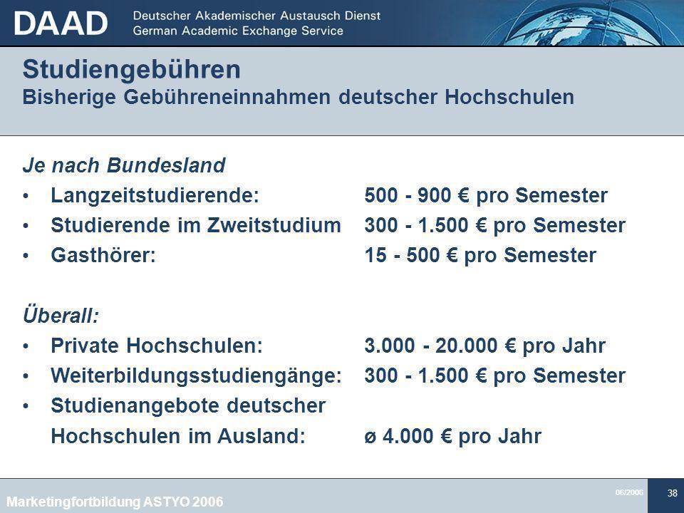 Studiengebühren Bisherige Gebühreneinnahmen deutscher Hochschulen