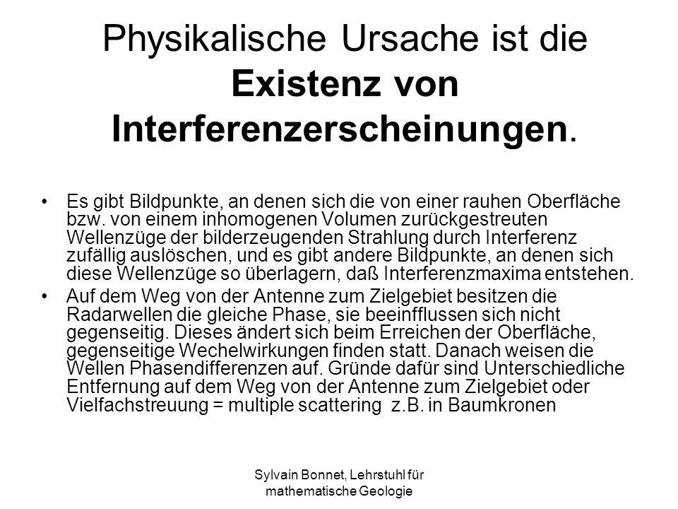 Physikalische Ursache ist die Existenz von Interferenzerscheinungen.
