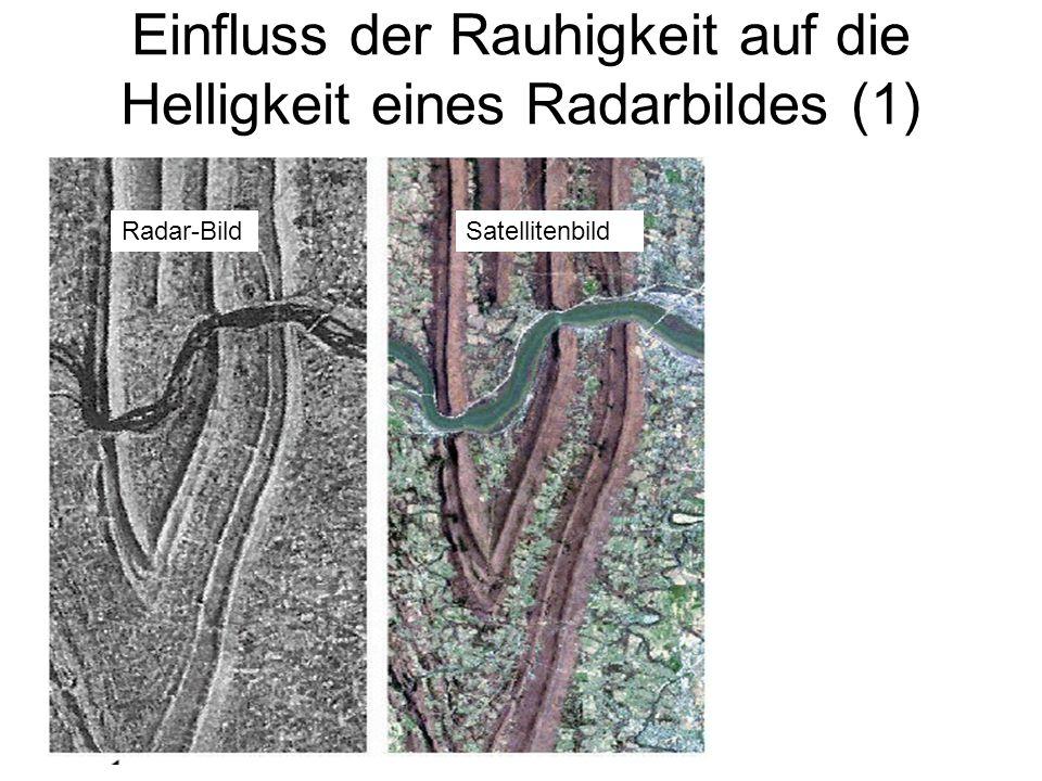 Einfluss der Rauhigkeit auf die Helligkeit eines Radarbildes (1)