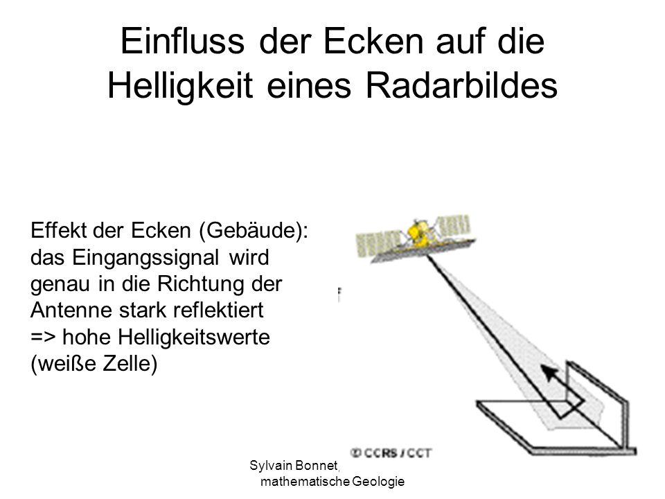 Einfluss der Ecken auf die Helligkeit eines Radarbildes