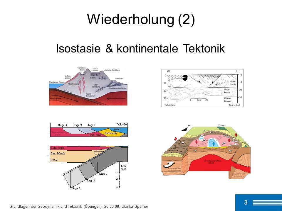 Wiederholung (2) Isostasie & kontinentale Tektonik 3