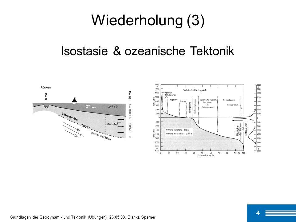 Wiederholung (3) Isostasie & ozeanische Tektonik 4