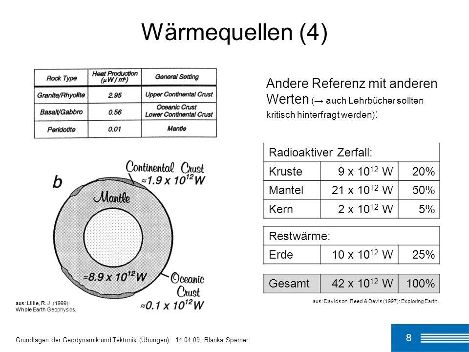 Wärmequellen (4) Andere Referenz mit anderen Werten (→ auch Lehrbücher sollten kritisch hinterfragt werden):