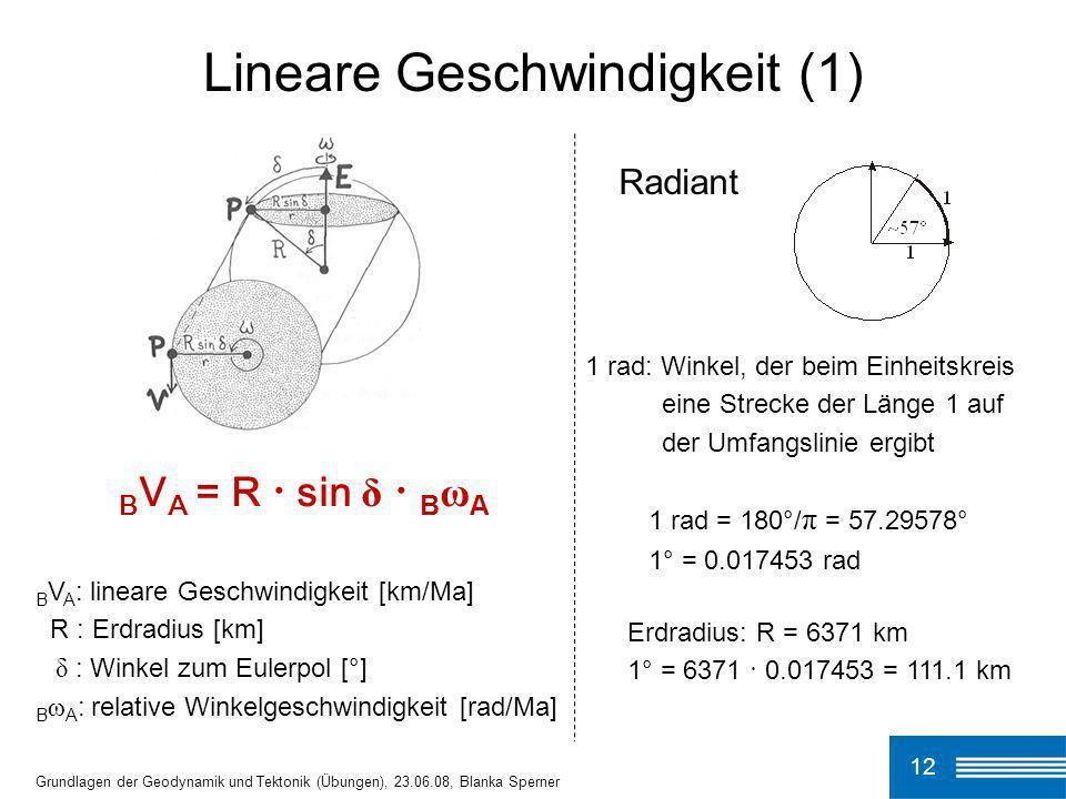 Lineare Geschwindigkeit (1)