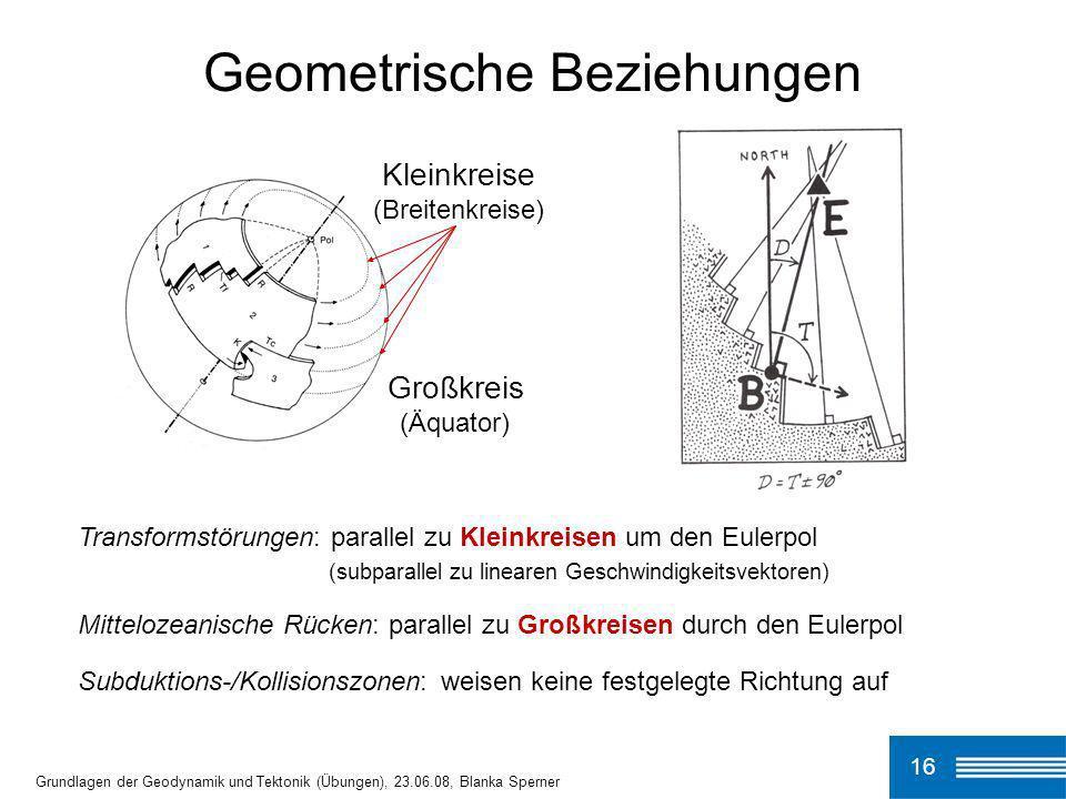 Geometrische Beziehungen