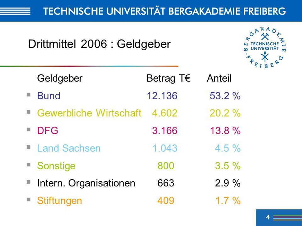 Drittmittel 2006 : Geldgeber