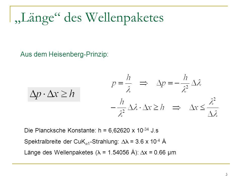 """""""Länge des Wellenpaketes"""