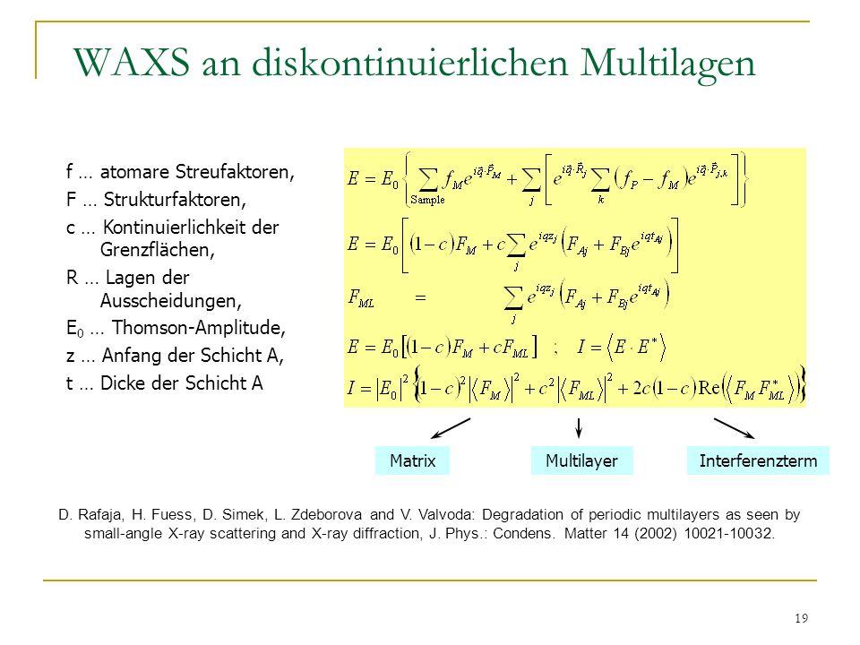 WAXS an diskontinuierlichen Multilagen