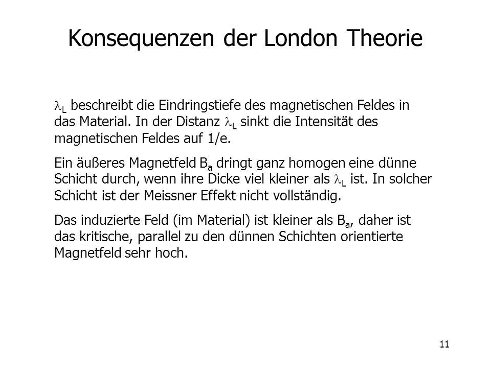 Konsequenzen der London Theorie