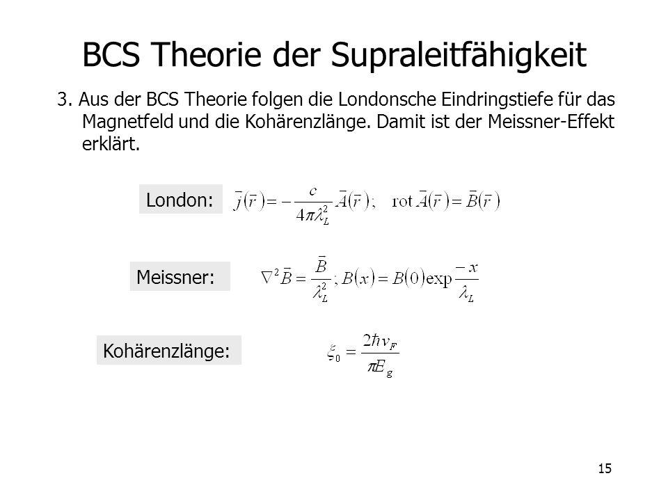 BCS Theorie der Supraleitfähigkeit