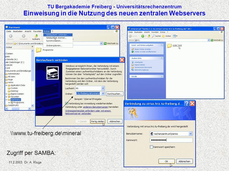 \\www.tu-freiberg.de\mineral Zugriff per SAMBA: