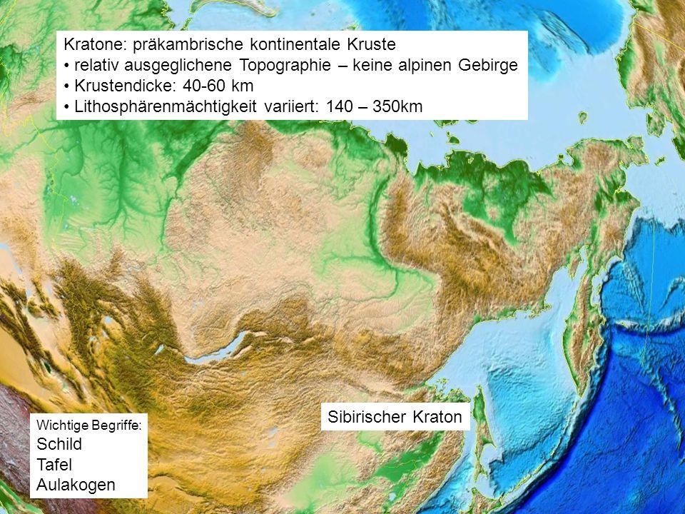 Kratone: präkambrische kontinentale Kruste