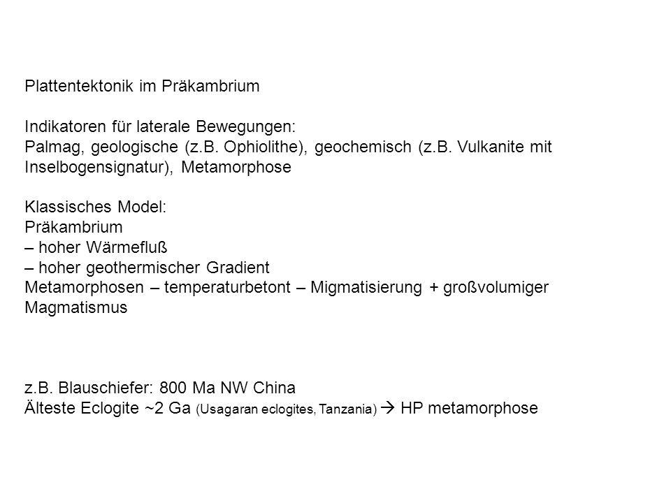 Plattentektonik im Präkambrium